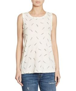 Current/Elliott | Feather Printed Muscle Tee