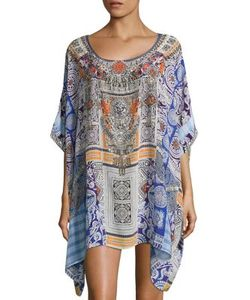 Camilla | Chinese Whispers Silk Short Caftan