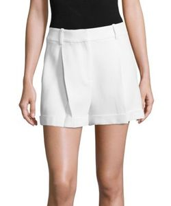 Michael Kors Collection | Pleated Solid Shorts