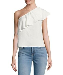 7 For All Mankind | Ruffled One-Shoulder Top