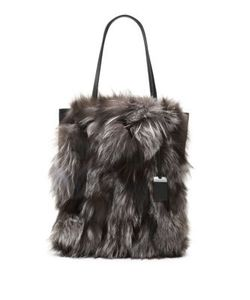 Michael Kors Collection | Eleanor Fox Fur Tote