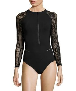 Jonathan Simkhai | Zip-Front One-Piece Rash Guard