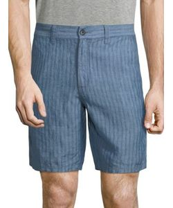 John Varvatos | Triple Needle Linen Shorts