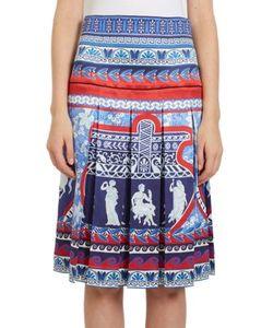 Mary Katrantzou | Gheia Pleated Roman-Print Silk Skirt