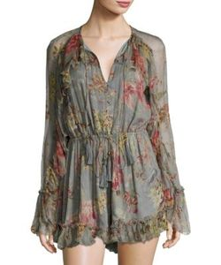Zimmermann | Mercer Floating Silk Playsuit