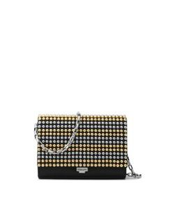 Michael Kors Collection | Small Studded Leather Crossbody Clutch