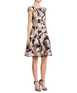 Talbot Runhof | Silk Print Dress