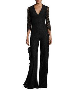 Alexis | Rosario Ruffle Lace Jumpsuit