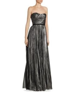 J. Mendel | Strapless Pleated Gown
