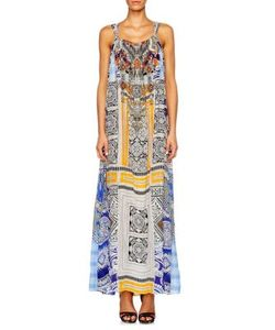 Camilla | Chinese Whispers Mixed Print Silk Gown