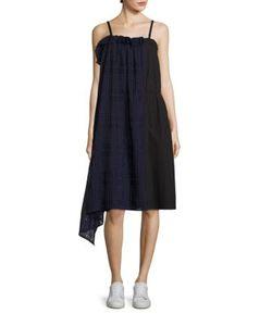 Public School | Ema Plaid Overlay Dress
