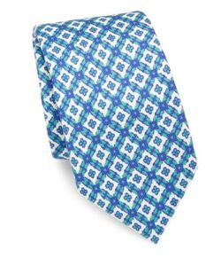 Isaia | Medallion Patterned Silk Tie