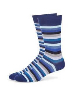 Paul Smith | Striped Cotton Blend Socks