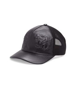 Gucci   Tigers Embossed Leather Baseball Hat