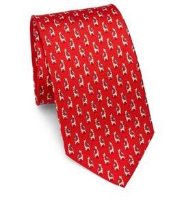 Salvatore Ferragamo | Giraffe Bird Silk Tie