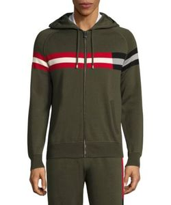 Bally | Striped Hooded Sweater