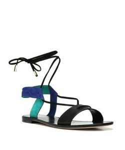 Diane von Furstenberg | Estonia Leather Suede Lace-Up Sandals
