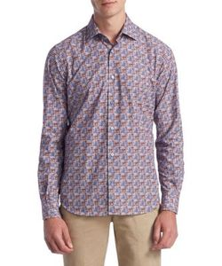 Saks Fifth Avenue | Collection Classic Sport Fit Printed Button-Down Shirt