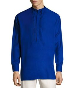 Salvatore Ferragamo | Mandarin Collar Silk Shirt