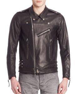 John Elliott   Italian Leather Riders Jacket