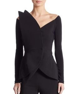 Antonio Berardi | Long Sleeve Peplum Jacket