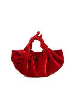 The Row | Ascot Velvet Small Hobo Bag