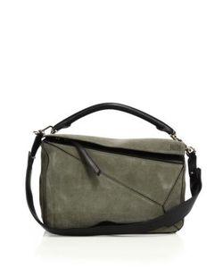 Loewe   Puzzle Small Suede Shoulder Bag