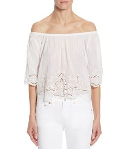 Polo Ralph Lauren | Off-The-Shoulder Cotton Eyelet Top