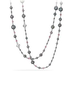 David Yurman | Oceanica And Bead Link Necklace With Pearls And Hematine