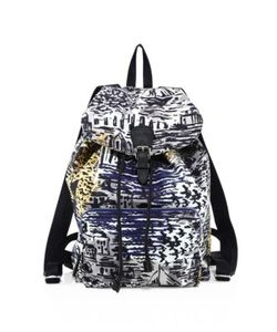 Burberry | Coastal Printed Leather Backpack