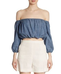 Theory | Waleska Off-The-Shoulder Blouse