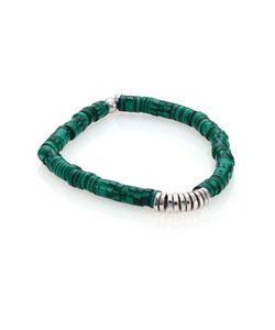 Tateossian | Malachite Sterling Bamboo Bracelet