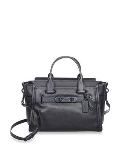 Coach | Swagger Pebble Leather Satchel