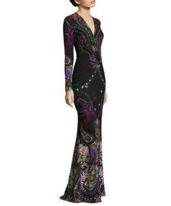 Roberto Cavalli   Faux Wrap Gown