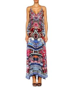 Camilla | Chinese Whispers Layered Silk Gown