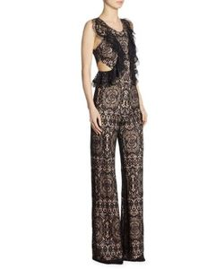 Alexis | Anka Lace Ruffle Side Cutout Jumpsuit