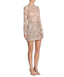 J. Mendel   Long Sleeve Embroidered Dress