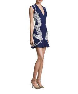 Jonathan Simkhai | Lace Applique Ruffle Dress
