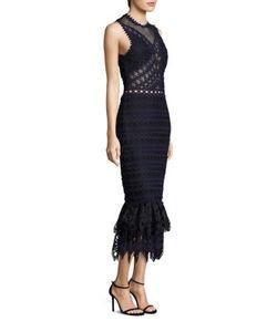 Jonathan Simkhai | Lattice Embroide Organza Trumpet Dress