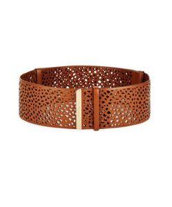 Salvatore Ferragamo | Wide Perforated Leather Belt