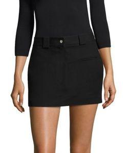 Helmut Lang   Stretch-Cotton Mini Skirt