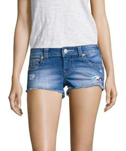 True Religion | Joey Distrssed Cut-Off Denim Shorts Wonder
