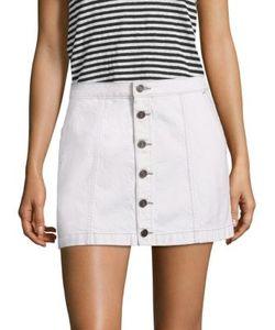 Joie | Emeralda Button-Front Denim Mini Skirt
