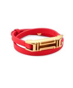 Tory Burch | X Fitbit Double-Wrap Leather Bracelet