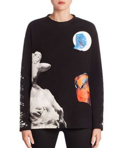 Proenza Schouler | Graphic Bonded Cotton Jersey Pullover