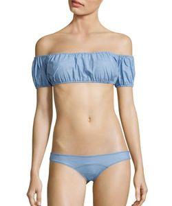 Lisa Marie Fernandez   Leandra Patchwork Bikini Top