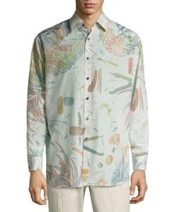 Salvatore Ferragamo | Abstract Printed Silk Blend Shirt