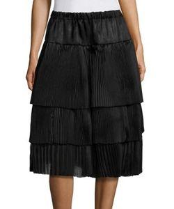 Sara Lanzi | Silk Tiered Skirt