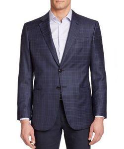 Giorgio Armani | Plaid Wool Silk Sportcoat