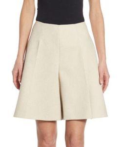 Delpozo | Linen Cotton Wide-Leg Bermuda Shorts